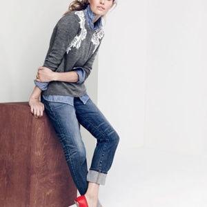 J. Crew Lace Applique Sweater
